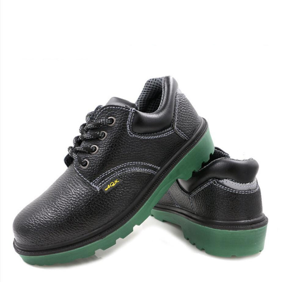 Cheapest Leather Safety Shoes with Steel Toe Cap FW-FZ0040