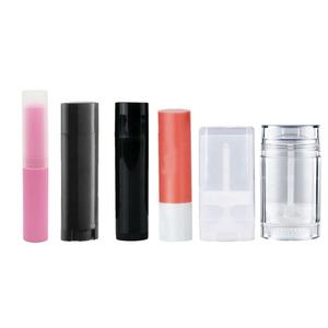 4ml 4.5ml 5ml 10ml 15ml 30ml 50ml 75ml round oval plastic lip blam tube, lipstick, deodorant tube for packaging container
