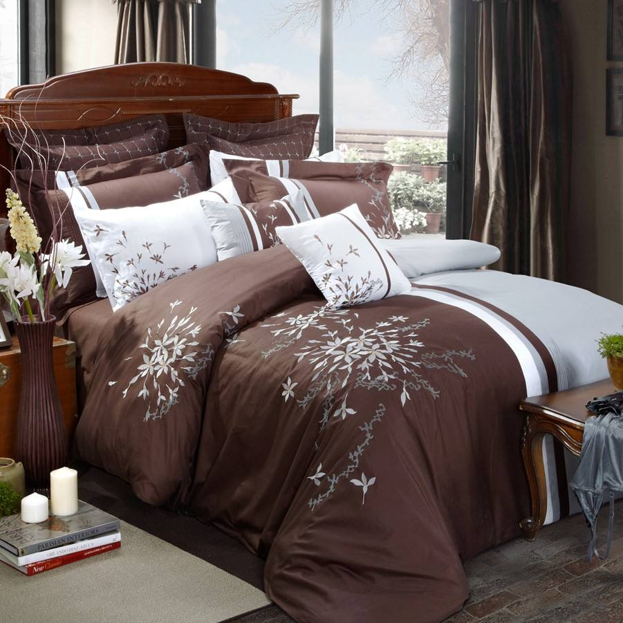 KOSMOS Microfiber Polycotton Embroidery Bedding Set Wholesale Comforters
