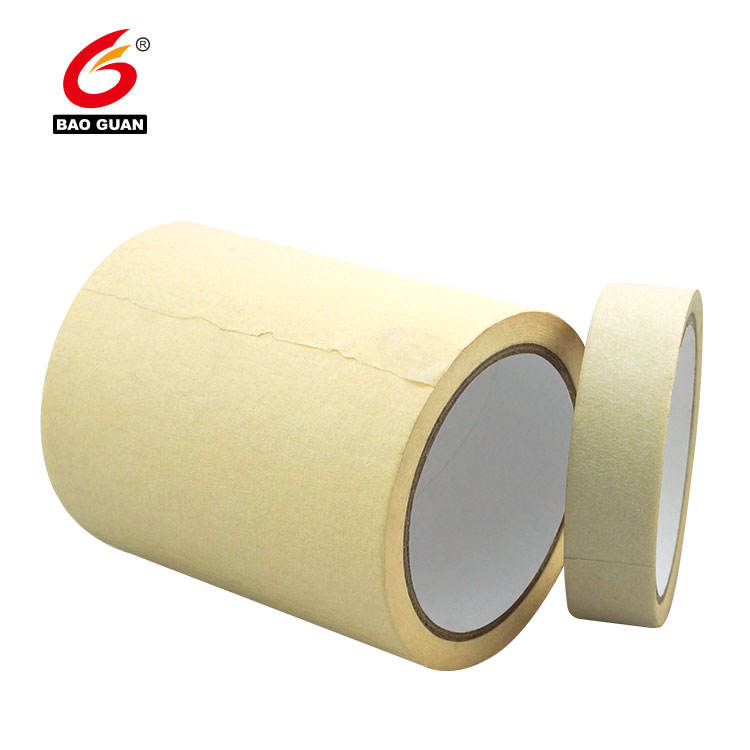 single side Rubber base Heat-Resistant colorful Crepe Pape automotive masking tape