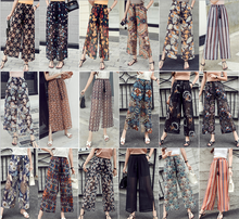 X85475A wholesale cheap chiffon women casual trousers ladies summer loose palazzo pants