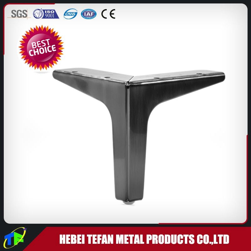 Factory Wholesale Triangular Hardware Metal Feet For Furniture Chrome Sofa Legs