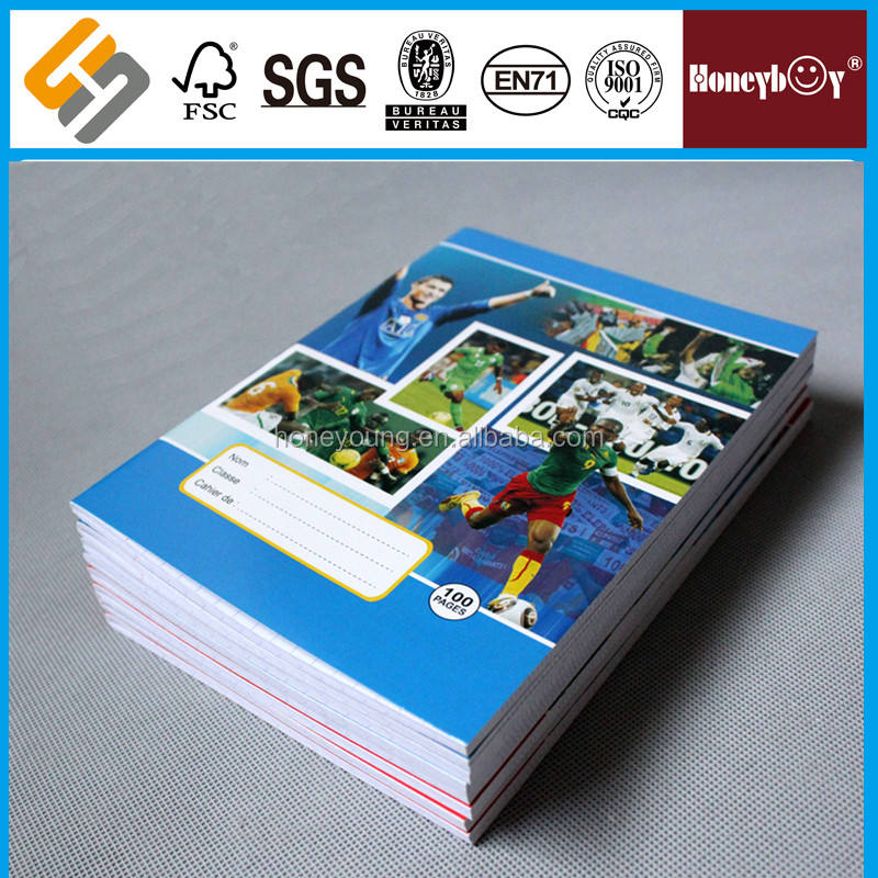 gloden supplier stationary notbook/french notebook