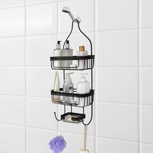 Bathroom Door  Hanging from Shower Caddy with Two Basket Organizers Plus Dish for Storage Shelves for Shampoo
