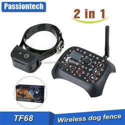 TOP INTELLIGENT 2 IN 1 DOG TRAINING & OUTDOOR WIRELESS FENCE SYSTEM TF68
