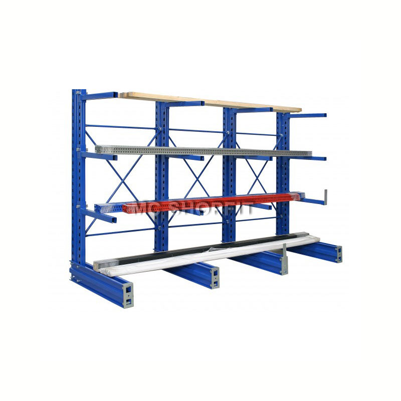 Steel cantilever shelf rack metal cantilevered heavy duty