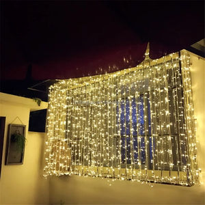 3M x 3M 300 Led Christmas Hanging LED String Curtain Fairy Lights outdoor for Wedding Party