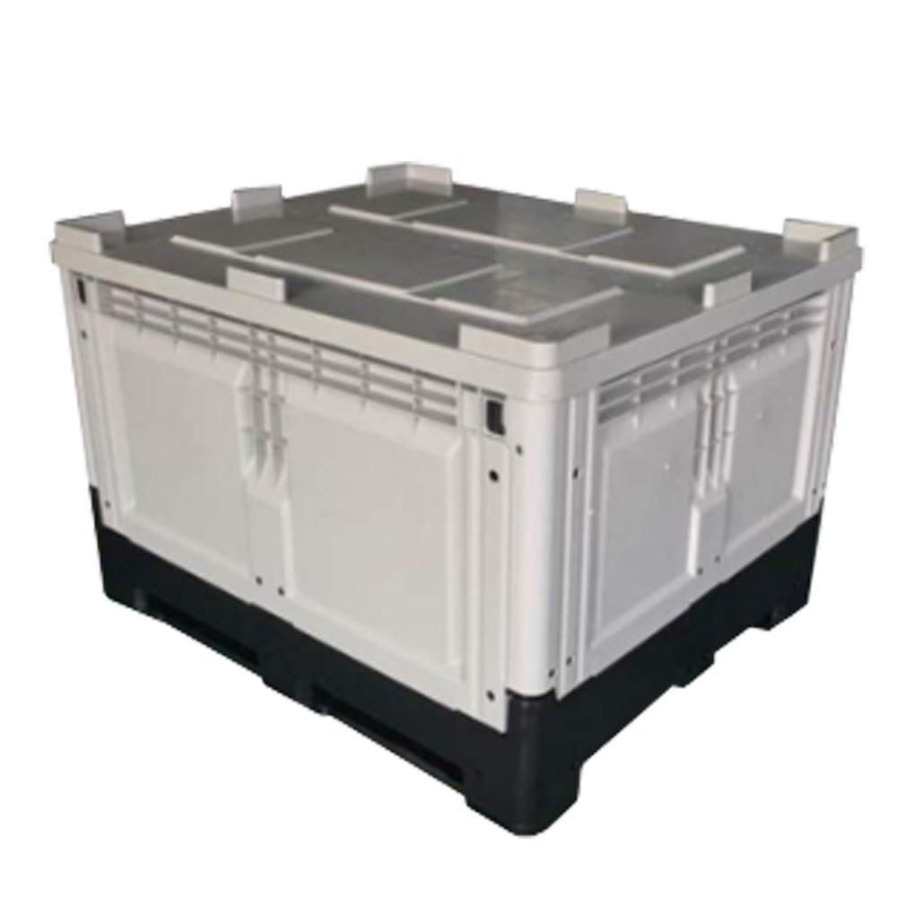 Large collapsible plastic storage warehouse box foldable pallet bins for sale