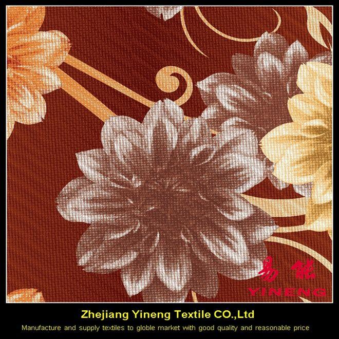 Hermosa floral impreso tela 100% poliéster tela muebles hoja de <span class=keywords><strong>cama</strong></span> textiles para el hogar