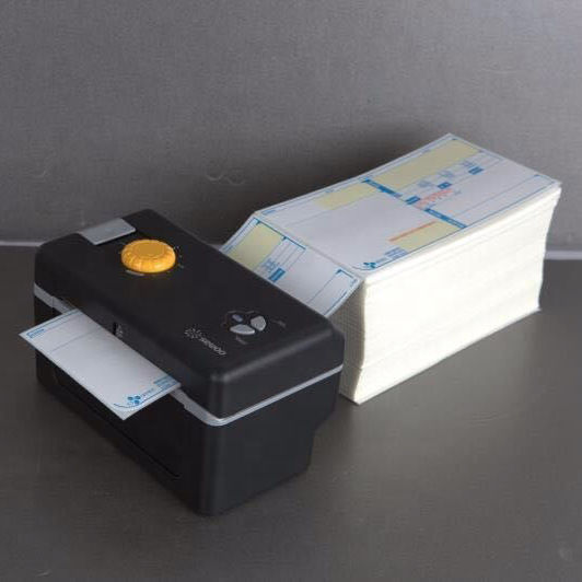 Fanfold ticket printer black mark thermal printer label rolling printer