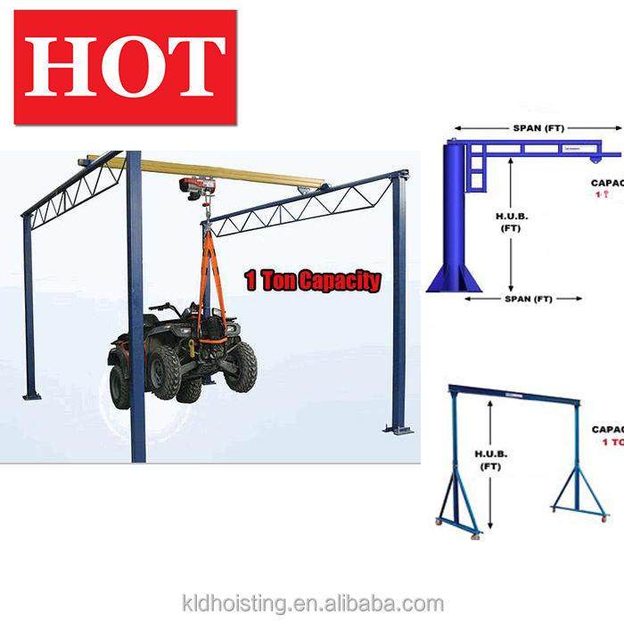 Workstation 1000 kg single girder beam automated lifting overhead hoist crane 1 ton light crane monorail