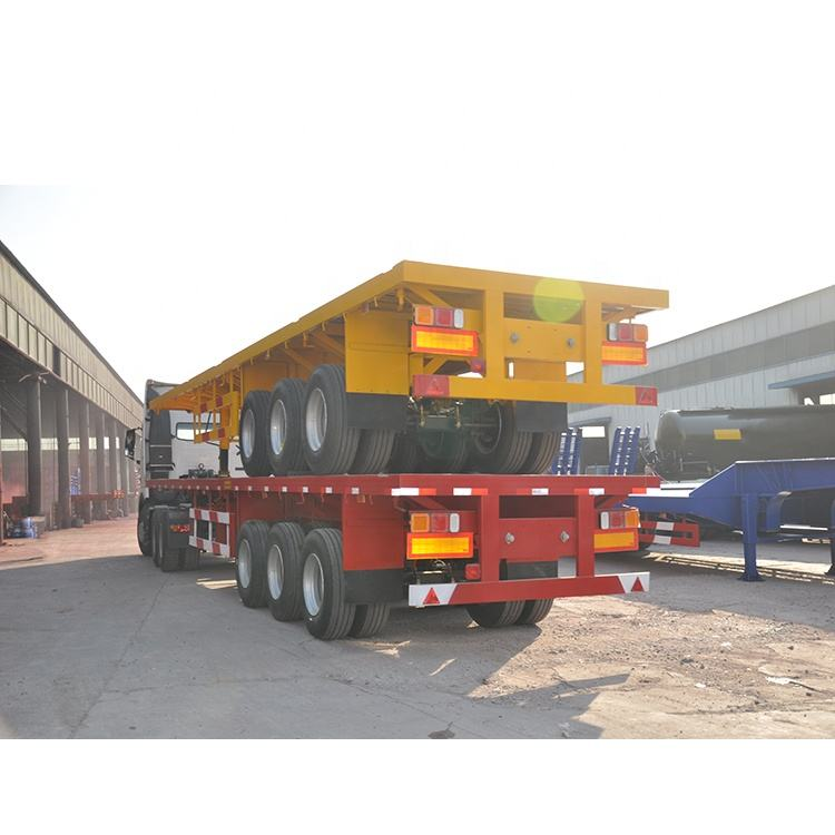China light flatbed container semi trailer for sale