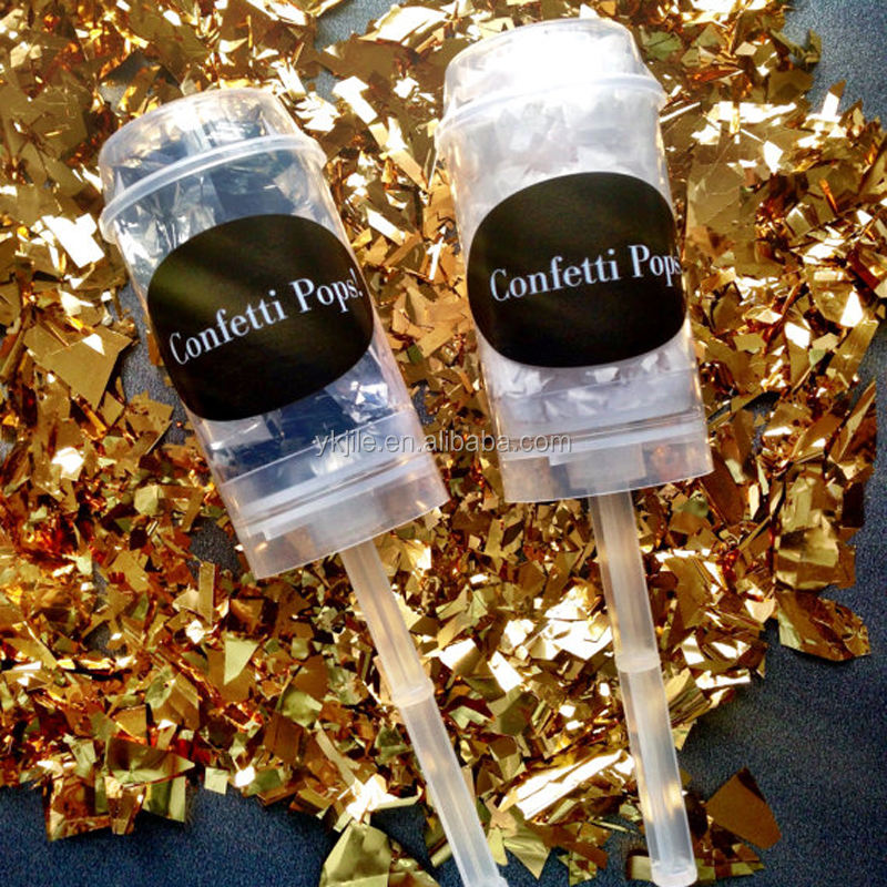 wholesale party decorative colorful spraying push-pop confetti