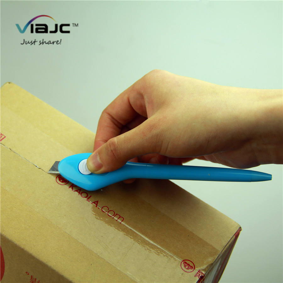2 in 1 function pen knife for art working/express/courier delivery ball pen with paper knife in factory cheap price