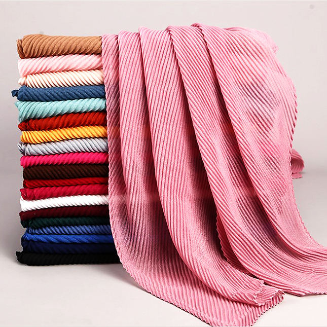 Muslim crinkle cotton linen scarf wholesale