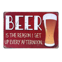 Wholesale Embossed Beer Bar Tinplate Sign Board Vintage Rectangular Advertising Tin Plate Custom Metal Sign