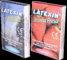 LATEXIN CONDOM NATUREL OR STAWBERRY