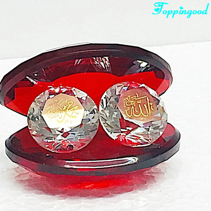 Hot Red Engraved Crystal Wedding Shell For Arabic Door Gifts