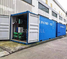 2 tons Container Block Ice Machine with cold room mobile plant