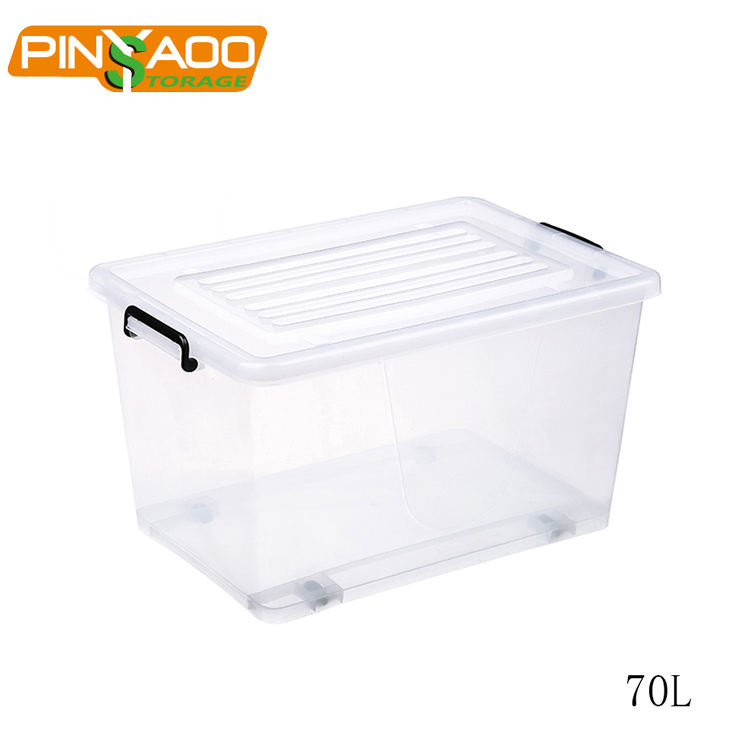 For Clothing [ Storage ] Clothingstorage Clothes Plastic Storage Box 70L Clear Transparent Large Plastic Clothes Storage Containers Tote Bin Box With Lid
