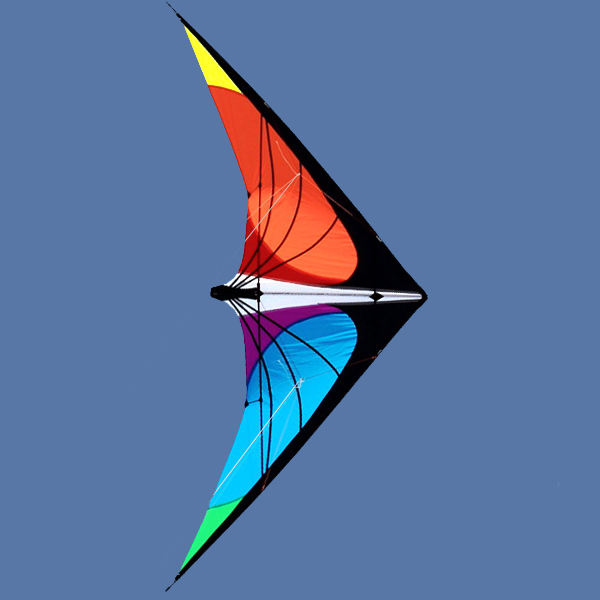 Quality Kites 2.4m Delta Colorful Carbon Tube Stunt Kite