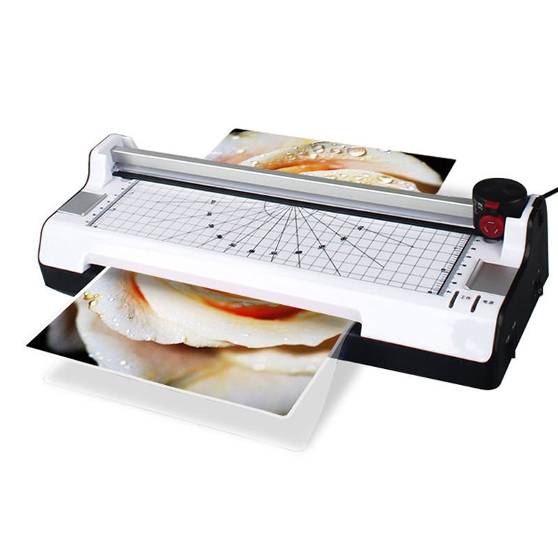 Multi-fuction Cold & hot A4 laminator for photos paper work document Laminating Machine/office laminator A4 with paper cutter