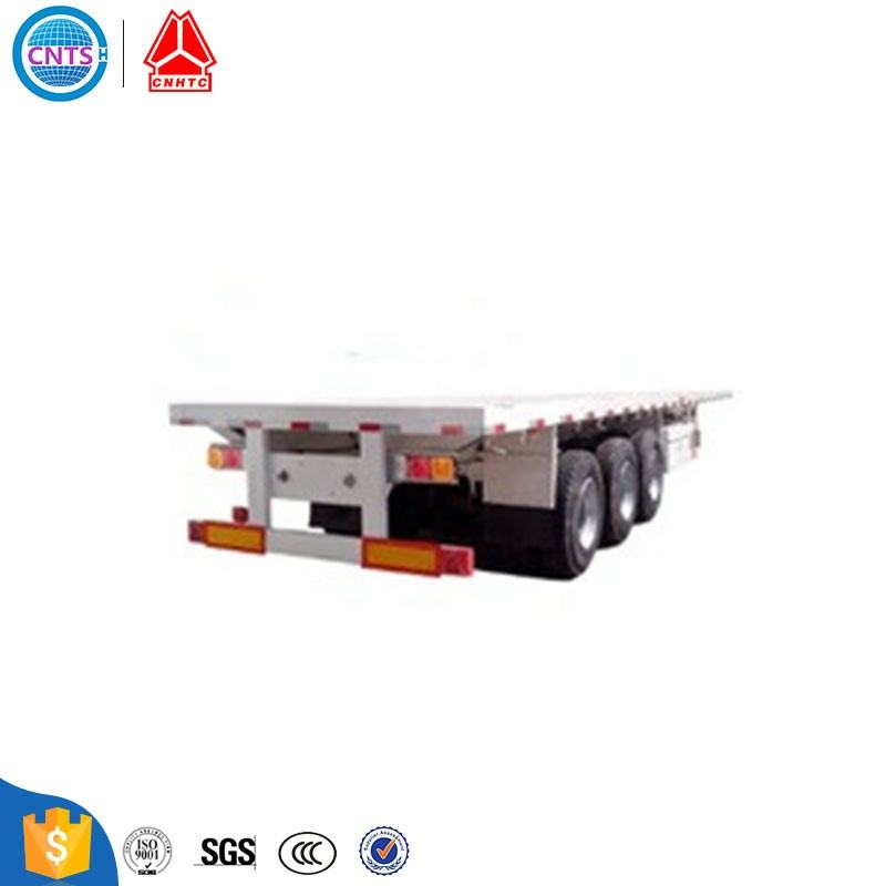 Cheap price 3 axle 20ft 40ft 40 feet 40ton container flatbed semi trailer for sale