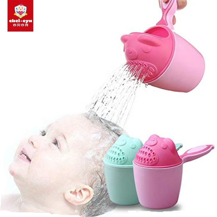 Cartoon Bear Shape Kids Baby Bath Shower Shampoo Cup Spoons Washing Head Hair Tearless Tub Bath Products Care For Children