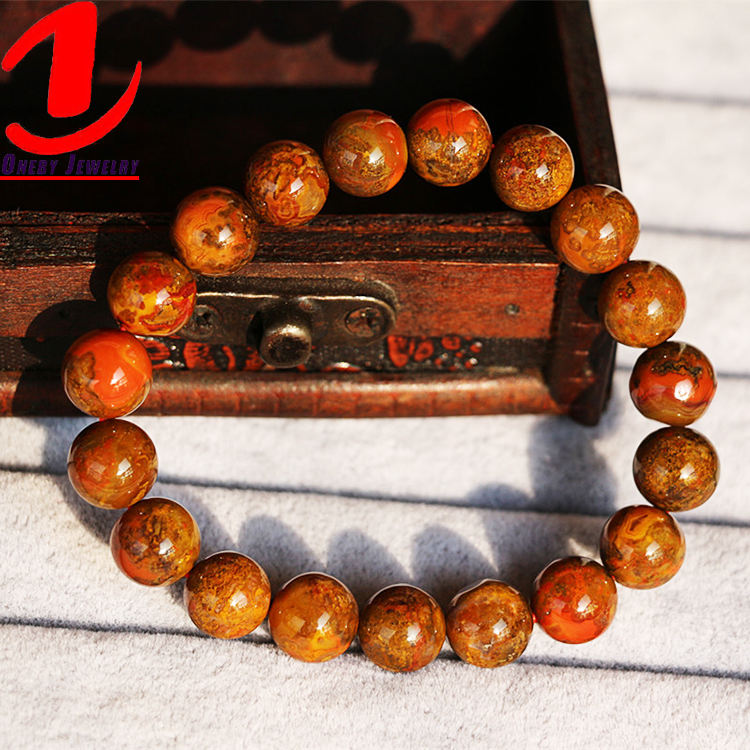 9mm 10mm Storage Projector Personalise Personalisable Oeil Red Agate Bracelet