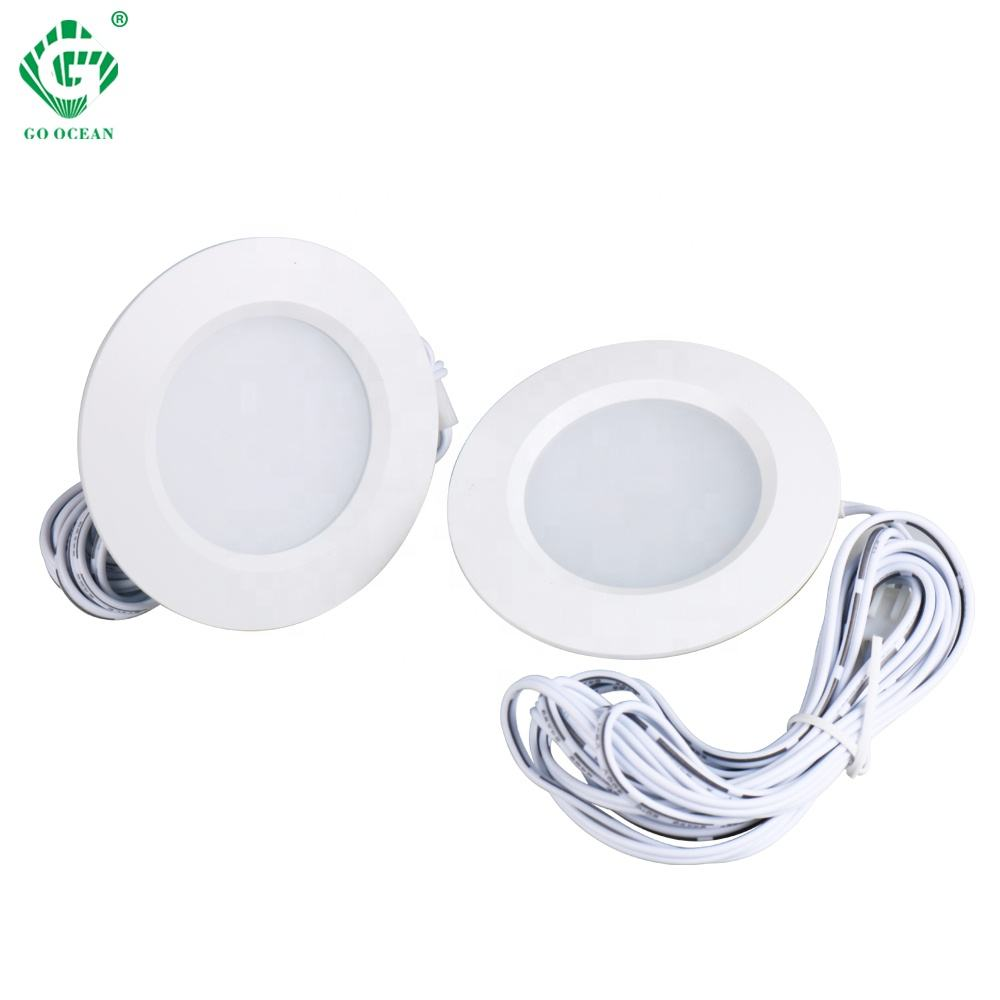 Cheapest Price cabinet light round recessed puck lights For Cabinet Furniture Fixtures