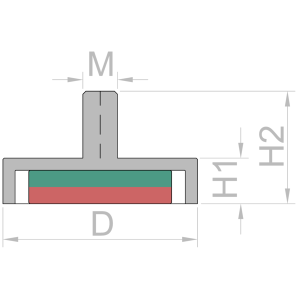 forte d20 x 14mm <span class=keywords><strong>altura</strong></span> x m4 linha neodymium magnet pot