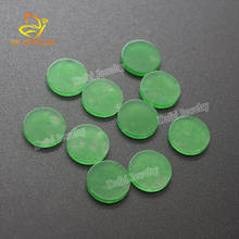Top Quality Round Flat Natural Green Jade