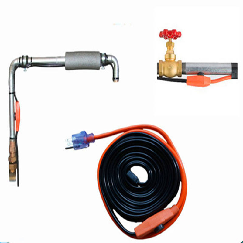 Electrical heat tracing heating cable with thermostat in China factory