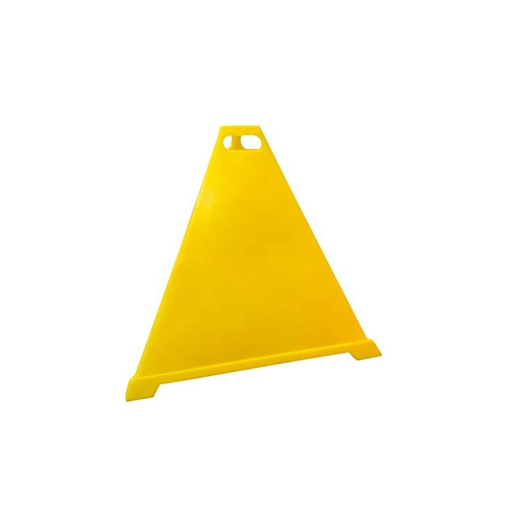 Colorful Road Safety Warning Cone 600ミリメートルPE 3 Sided Yellow Pyramid Cone