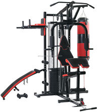 New Multi Gym 45KG Weight Plate Multi Station Home Gym Heavy Duty Frame with Dumbbell Exercise Bench