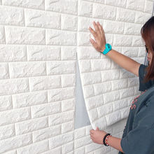 3d Solid Wall Stickers Waterproof Anti-collision Vinyl Brick Wall Sticker Self-adhesive Wallpaper 3d