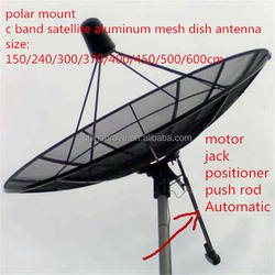 12ft feet 3.7m 370cm 144inch c band satellite hd digital aluminum mesh dish outdoor tv parabolic antenna for European market