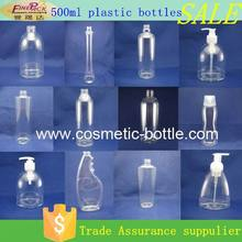 PET plastic bottles for dishwashing liquid