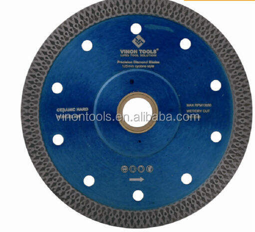 Cycloone Turbo Diamond Mesh Cutting blade for hard tile,ceramics,marble