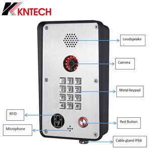 KNTECH Outdoor Sidik Jari Video Intercom Sistem Akses Kontrol SIP VoIP Video Doorphone KNZD-58