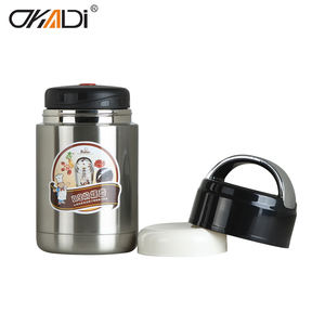 Vacuum thermos bucket 650ML double wall stainless steel heat preservation lunch food flask