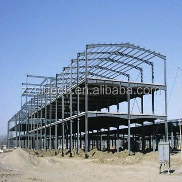steel structure engineering construction building for shops