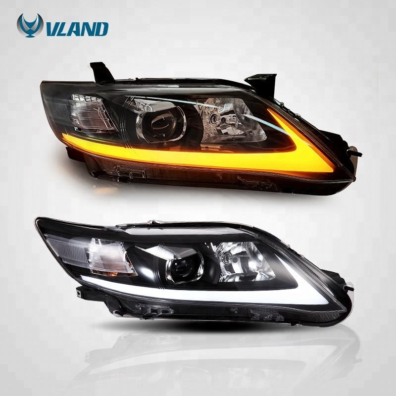 VLAND wholesales factory manufacturer Led Auto Lamps Car Headlight 2009-2011 US type headlamp For Toyota camry