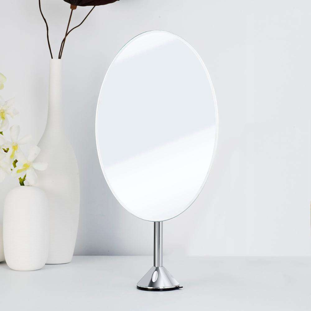 Oval Single Sided Extendable Stem Vanity Face Mirror Height Adjustable