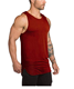 Wholesale Cotton gym top men Mens Bodybuilding Stringer Tops Undershirt Fitness Vest Muscle Sleeveless Singlet Racerback Top