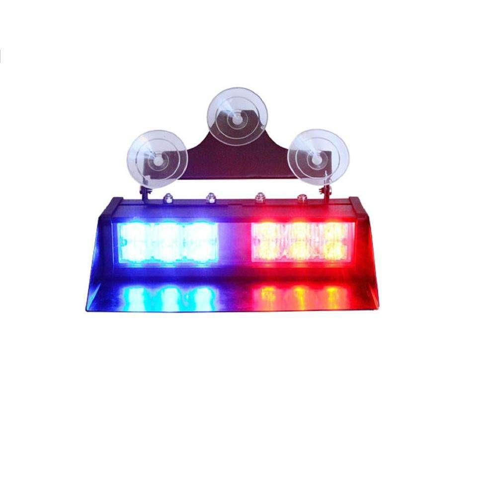 4PCS Auto LED Rot//Blau Polizei Strobe Blitzlicht Notfallwarnlampen+Fernbedienung