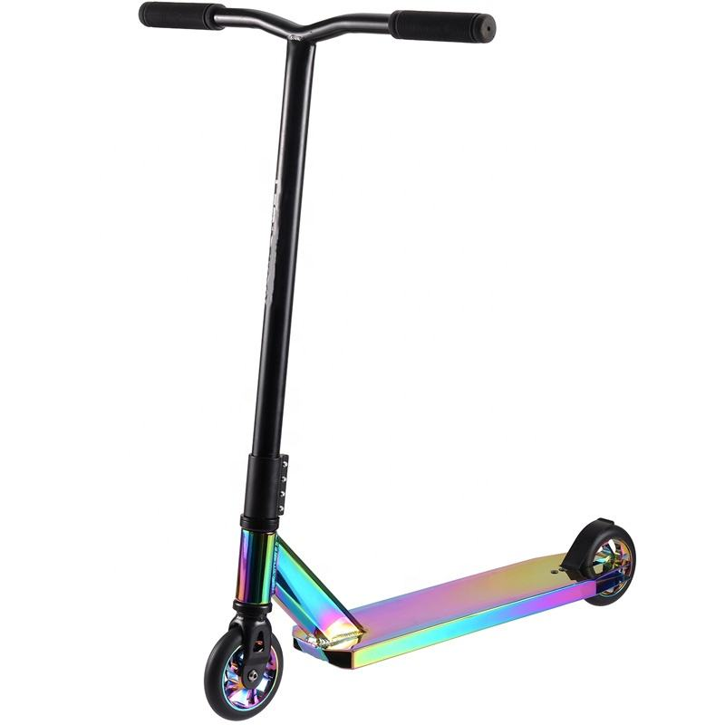 Adult Pro New 2019 Neo Chrome Rainbow Trick Pro Stunt Scooters Kick Scooter 110 Mm Stunt Scooter