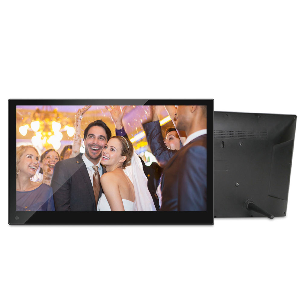 Montaggio A parete 15.6 pollici IPS Panel Digital Photo Frame Display LCD Con <span class=keywords><strong>Video</strong></span> Loop