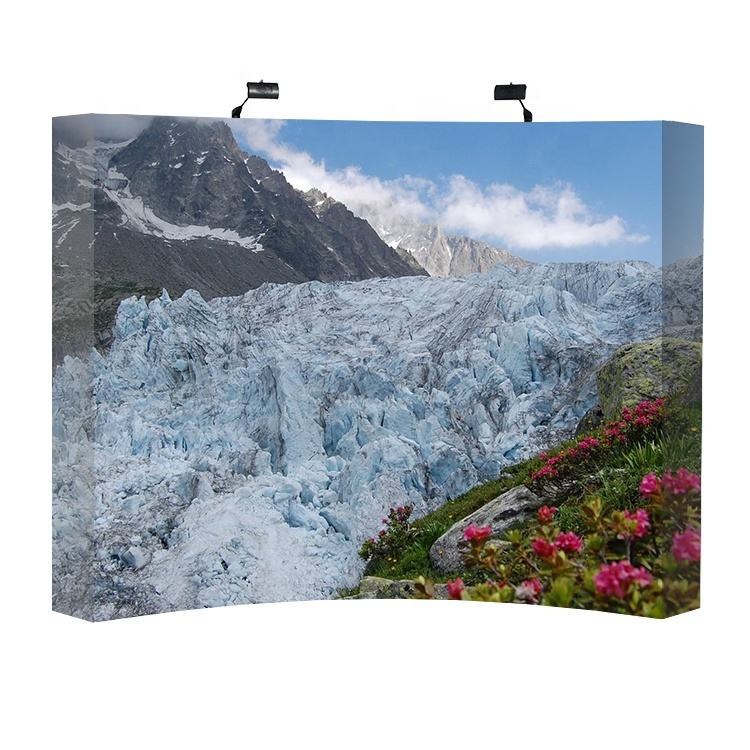8ft Easy Pop Up Tension Fabric Wall Backdrops Display Wall With Adjustable Aluminum Tube Frame