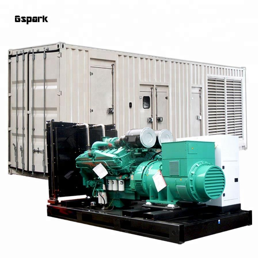 Professional Manufacture!! 50Hz 380V Container type KTA38G9 Powered 1000kw diesel generator price